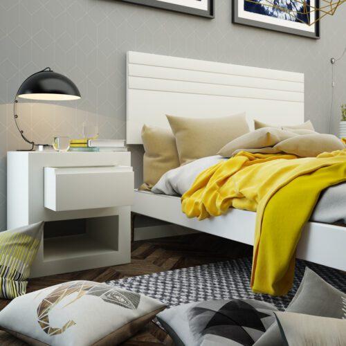 Cabecero de diseño minimalista con hendiduras horizontales