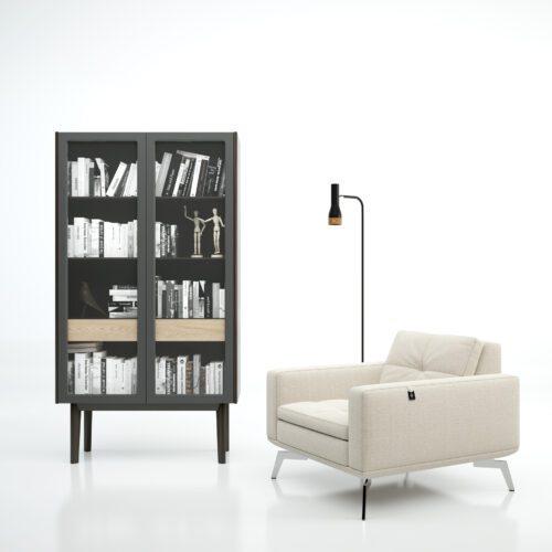 Vitrina librería de diseño y estilo minimalista