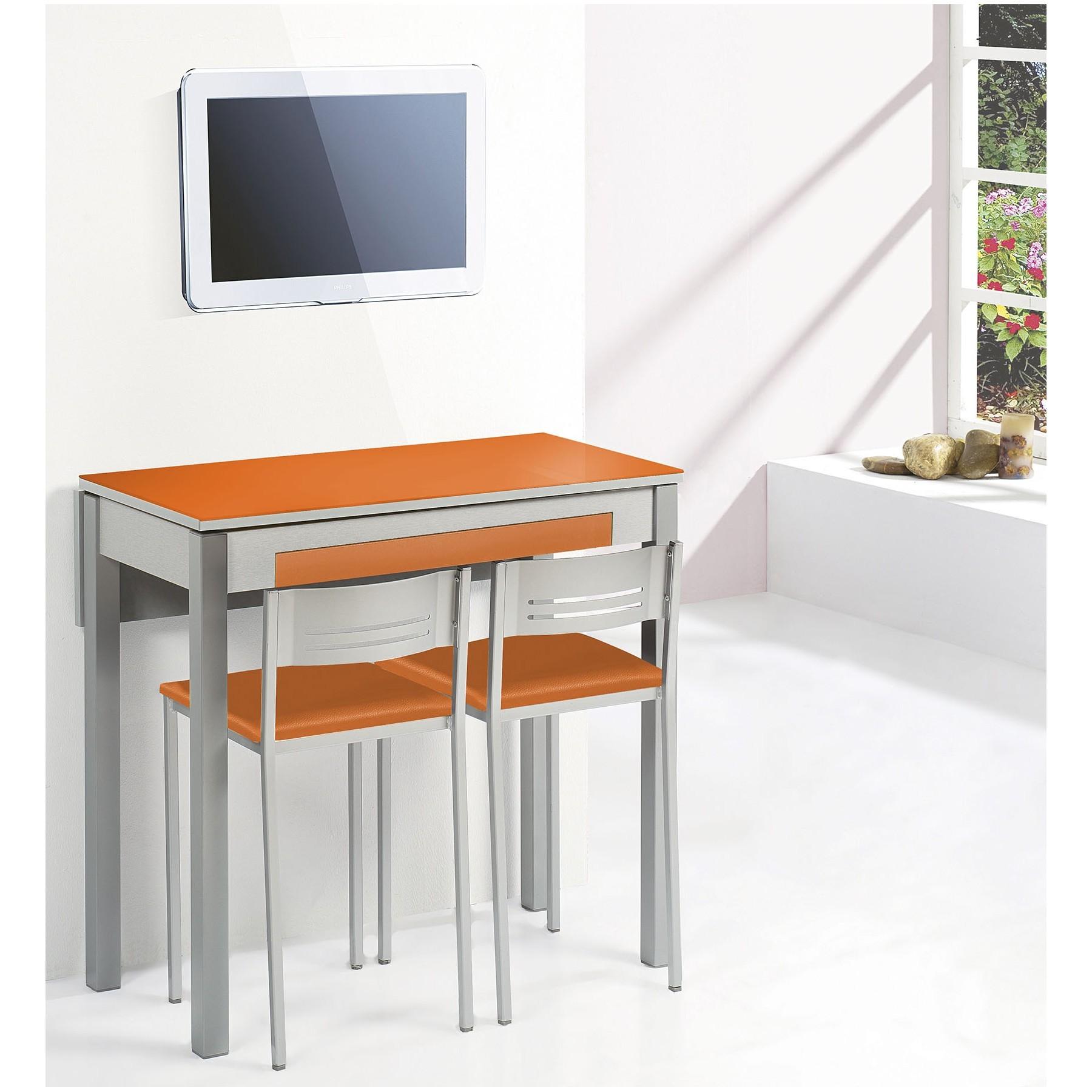 Conjunto Mesa y sillas de Cocina con ala extensible trasera