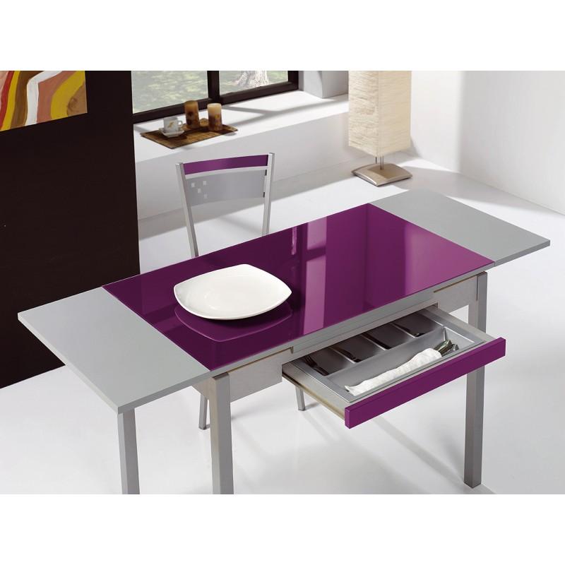 Mesa de cocina con alas extensibles laterales