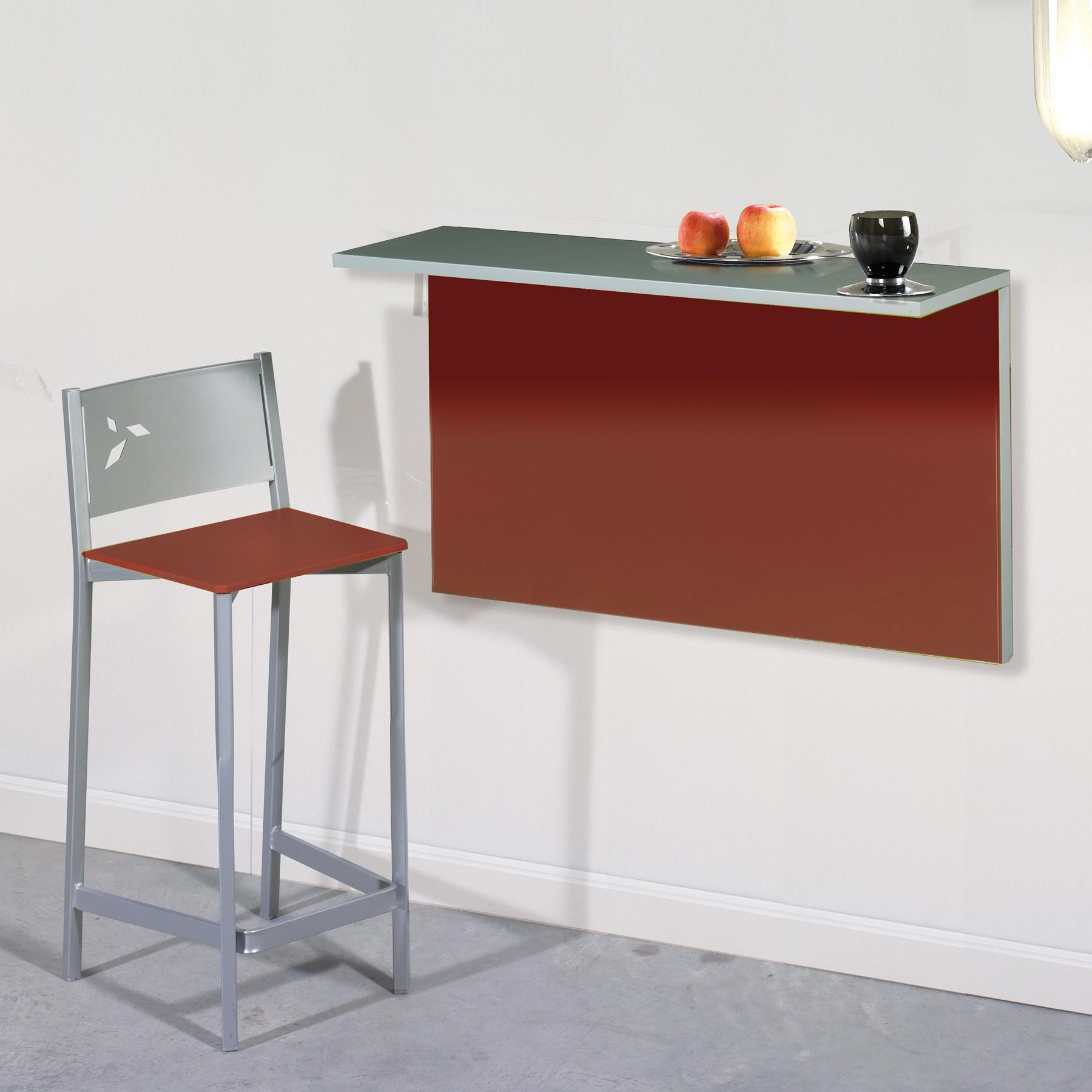 Mesa de cocina plegable de pared con 2 posiciones