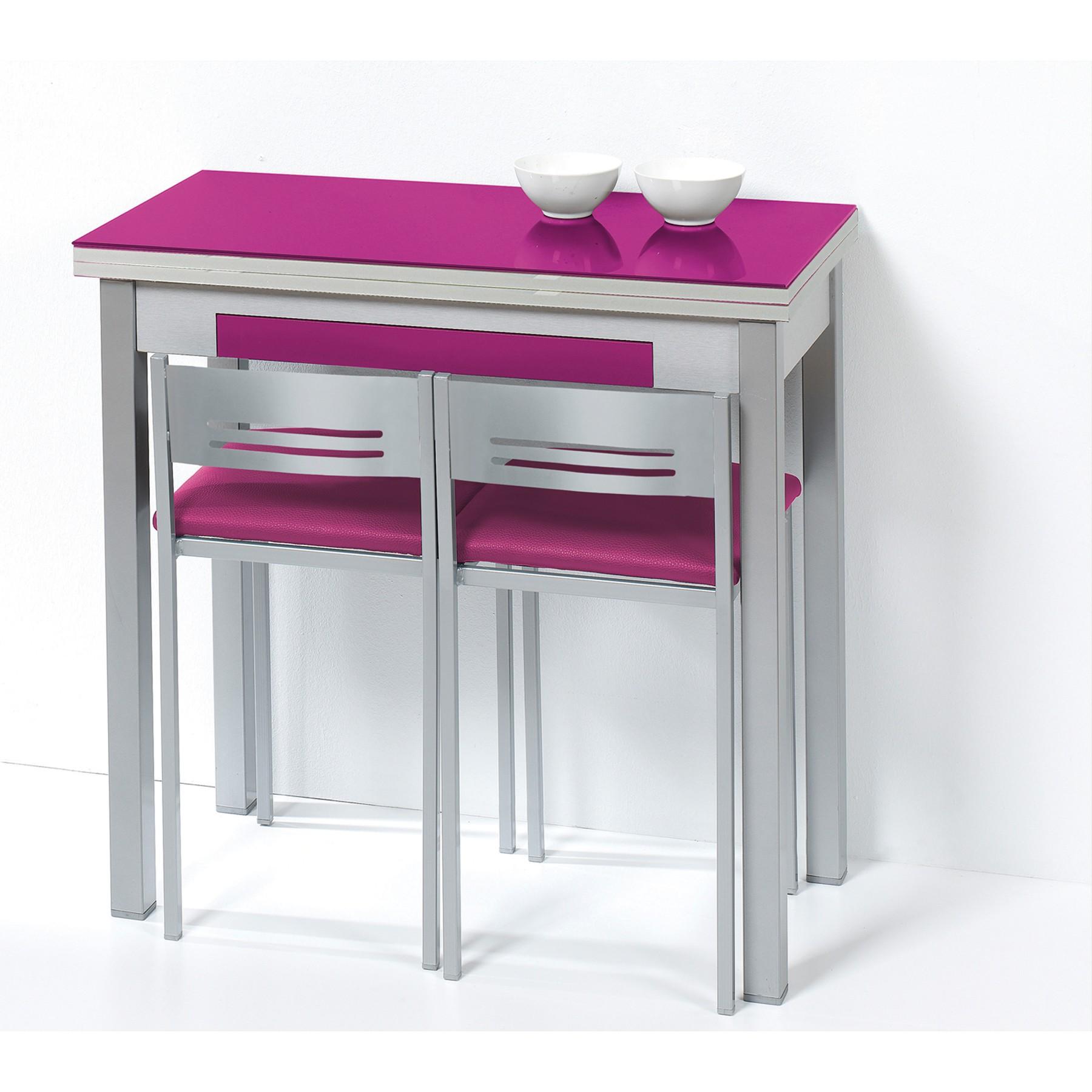 Pack mesa libro y taburetes de cocina respaldo bajo